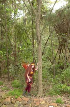 Ember lurks in the forests of the Magic Garden.