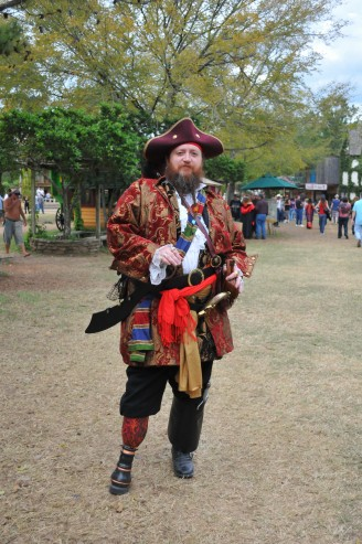 Pirate costume contest winner, with a real peg leg!