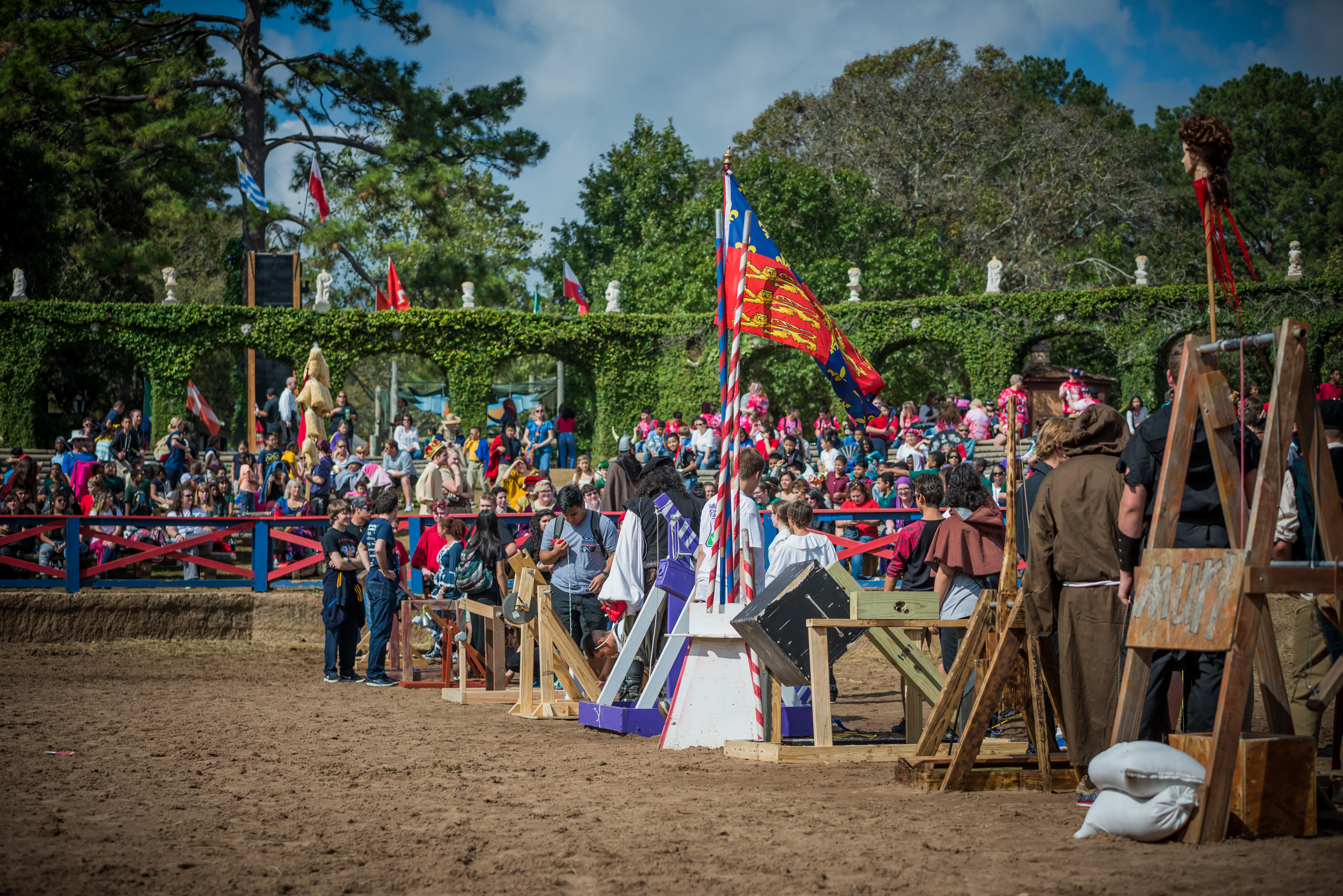 school days huzzah texasrenaissancefestival lots of people don t realize the faire s generosity but the festival sponsors approximately 12 000 students from low income schools which would never have