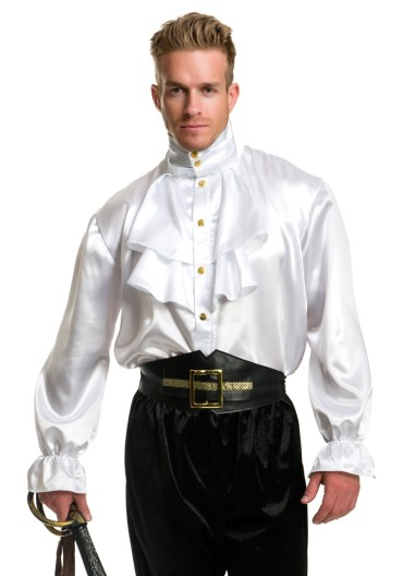 mens-white-satin-ruffle-shirt
