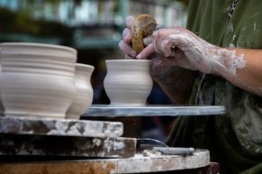 """Renaissance employee making pottery on school days"" by Daphney Hernandez, Navasota HS, Feature Photo, 2nd Place"